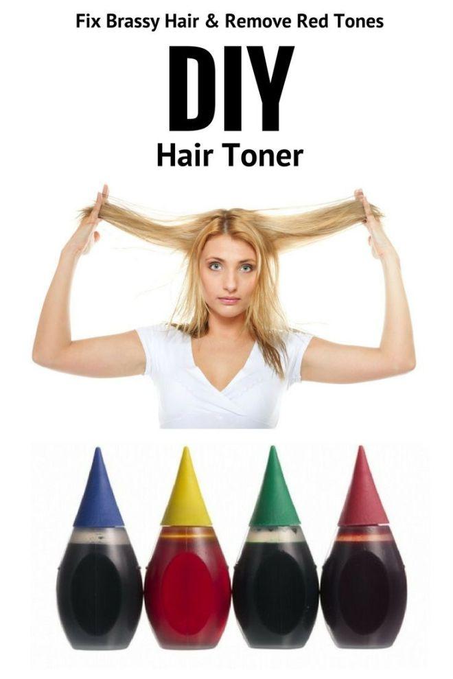 Diy hair toner fix brassy hair with food coloring