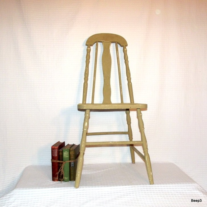 Wood Taper Back Kitchen Chair Chairs Tables