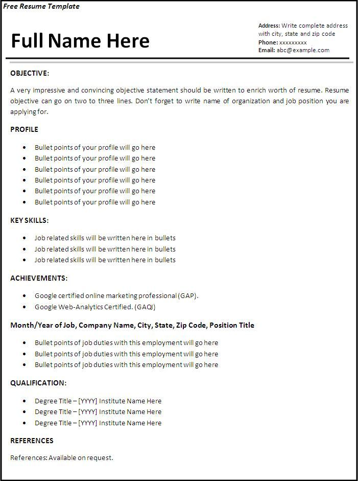 image result for what is resume template