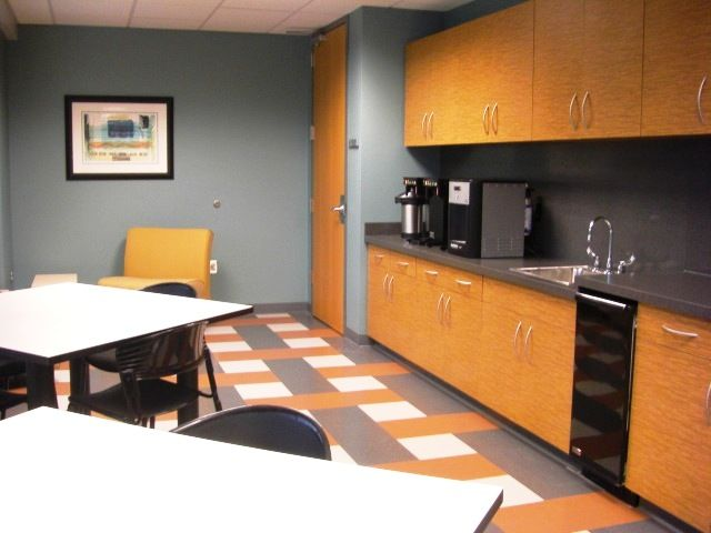 Break Room Cabinets Commercial Accent Paint