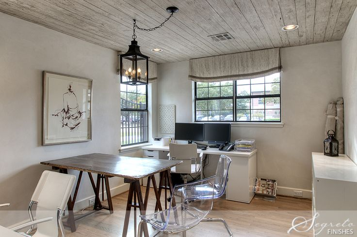 Painted Pine Plank Ceilings Distressed Beams Wood