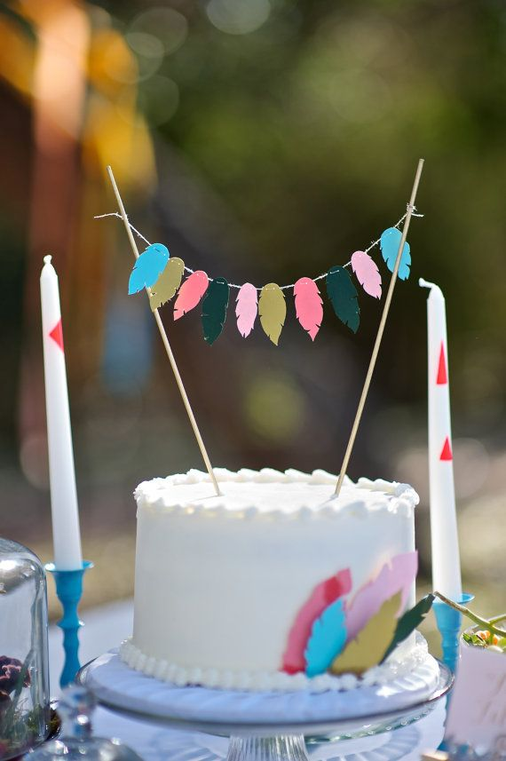 Paper Feather Cake Topper