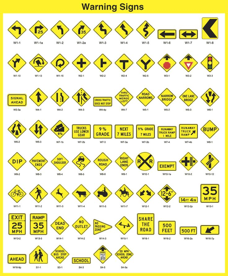 Warning Signs from Traffic Sfaety Corporation TSC