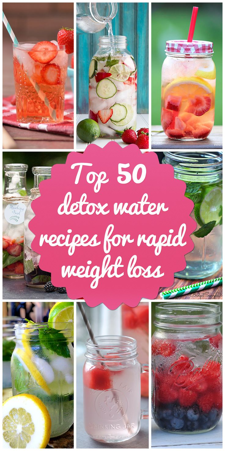 Top 50 Detox Water Recipes for Rapid Weight Loss 54health.com/…