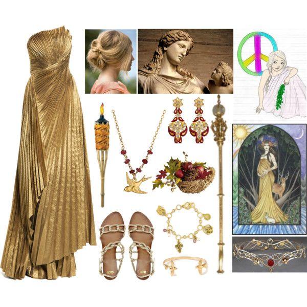 Eirene Goddess Of Peace By Lilacmayn On Polyvore My Style Pinterest