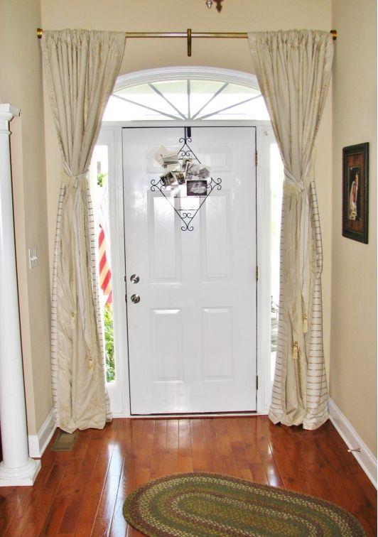 10 Ideas About Front Door Curtains On Pinterest Sidelight Curtains Door Window Treatments