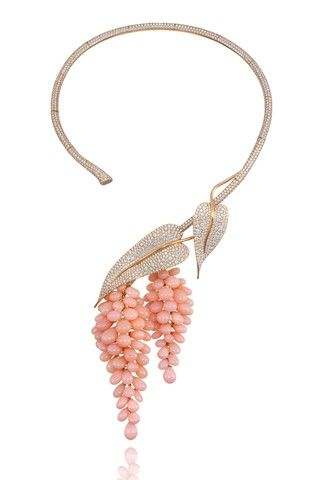Chopard – This necklace would look better without the bunches of fruit and paired with a lovely ultra-feminine blush or coral chiffon