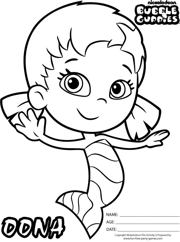 Bubble Guppies Coloring Pages Google Search Character