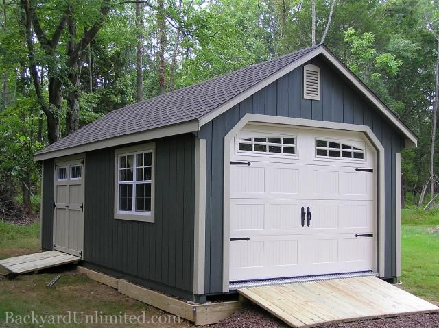 12x20 Garden Shed Garage With Transom Double Doors