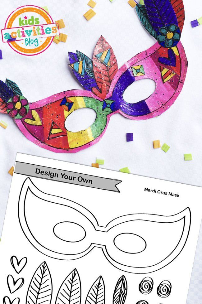 Printable Mardi Gras Mask Craft Crafts, Mardi gras masks