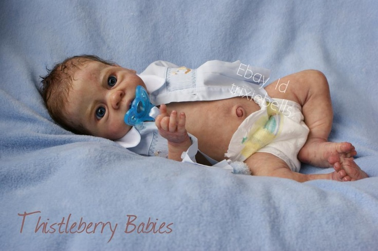 This is Quincey, a silicone baby created by Sylvia Manning