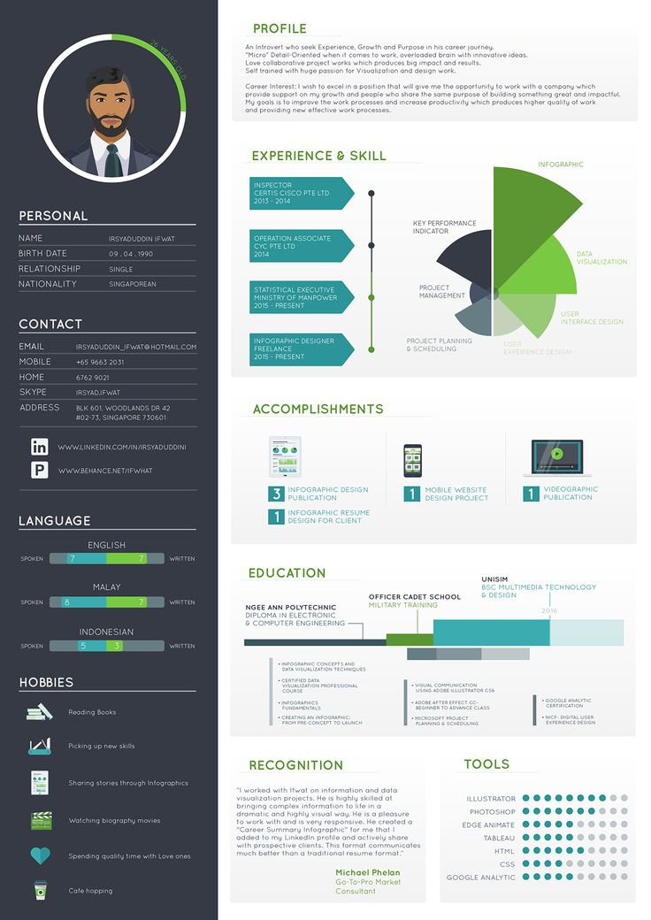 infographic resume design resume and graphic design resume