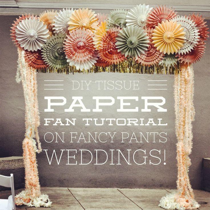 I love this Paper Fan Arch! http//www.fancypantsweddings