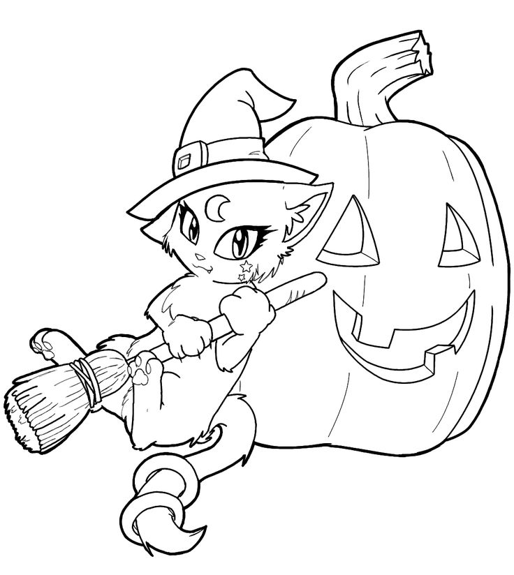 """free witch coloring pages  icolor """"little kids halloween"""