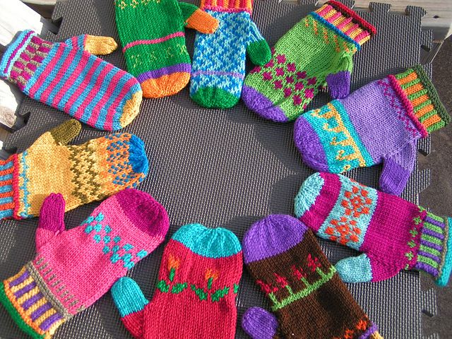 Ravelry Color Me Warm Mittens pattern by Colleen Brooks