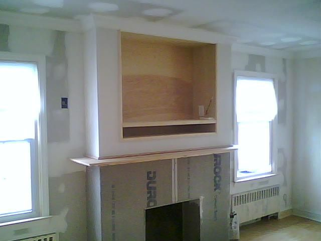 Gas Fireplaces With Tv Above Built In Wall Entertainment