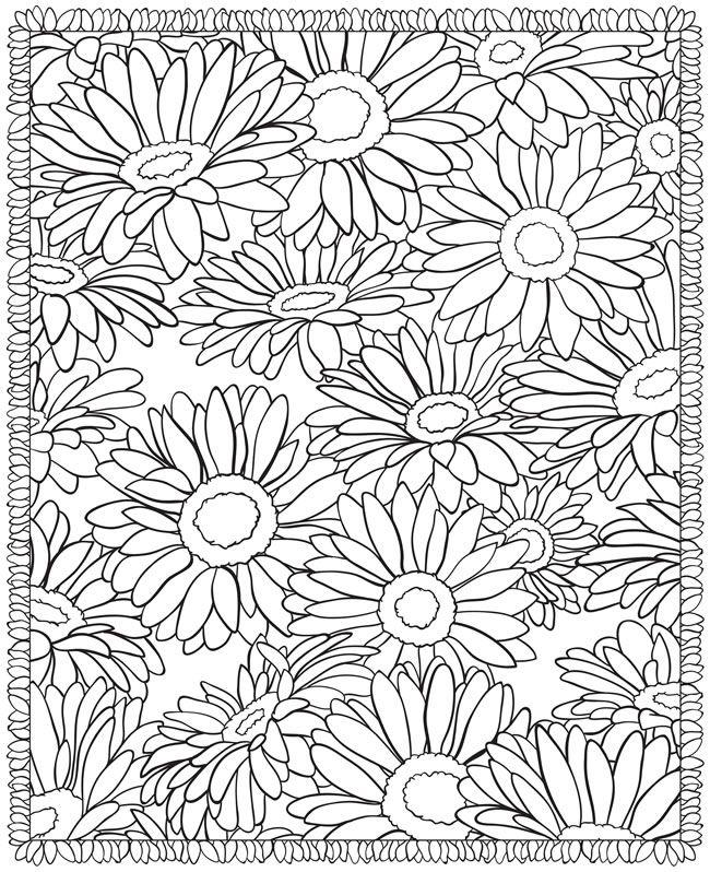 flowers colors pages bij dovers colors books flowers design colour