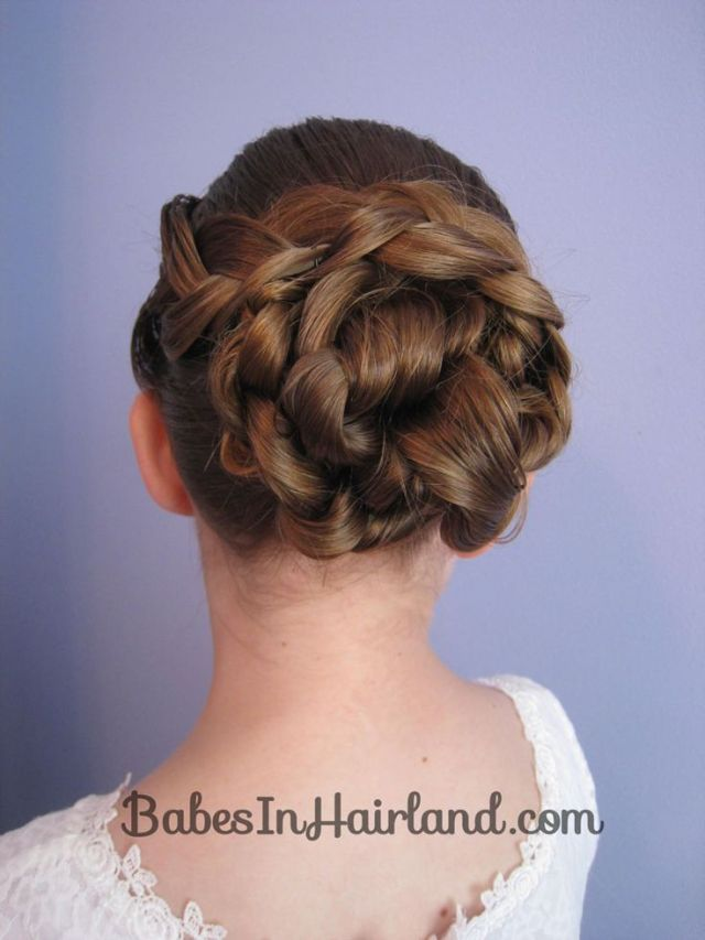 EASY Braid Knotted Bun Updo  from BabesInHairland com