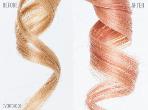 How To Get Rose Gold Hair With OVertone Golden Hair