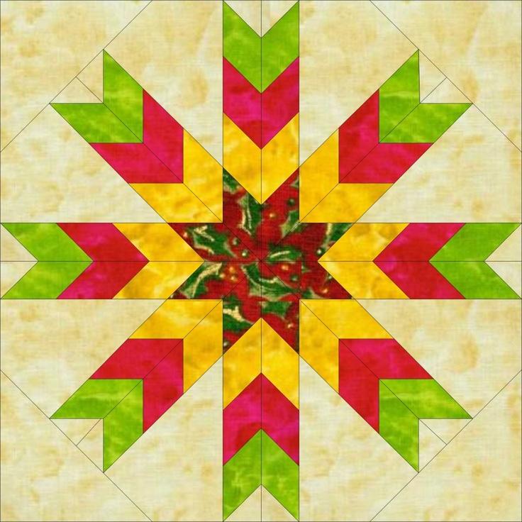 Spiral Lone Star Quilt Pattern