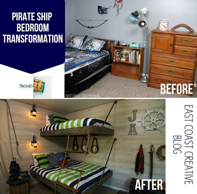 East Coast Creative Pirate Themed Bedroom Transformation From The Tv Show Knock It Off