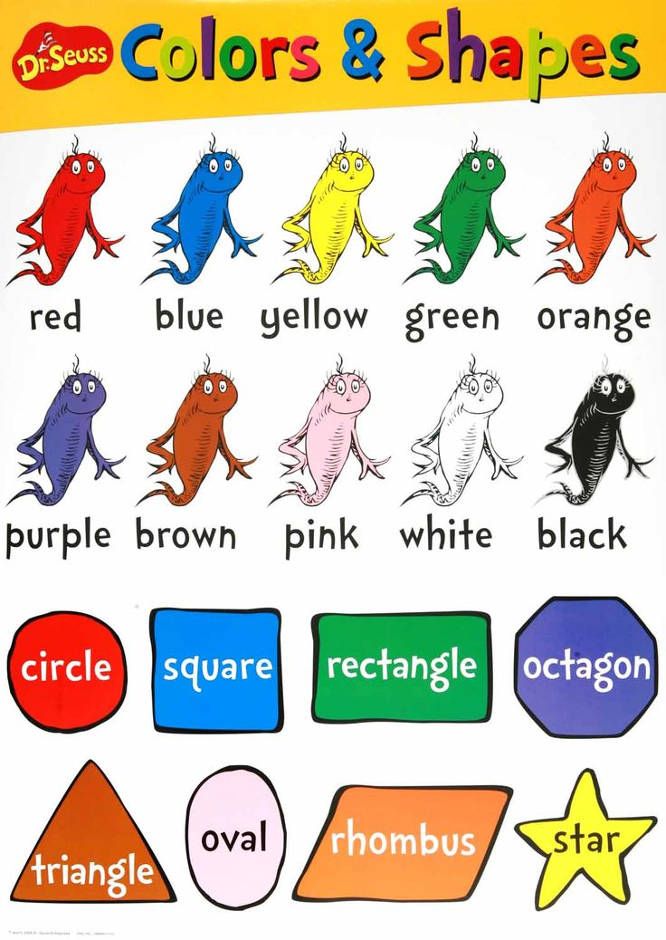 Colors & Shapes Chart Included in the Dr. Seuss