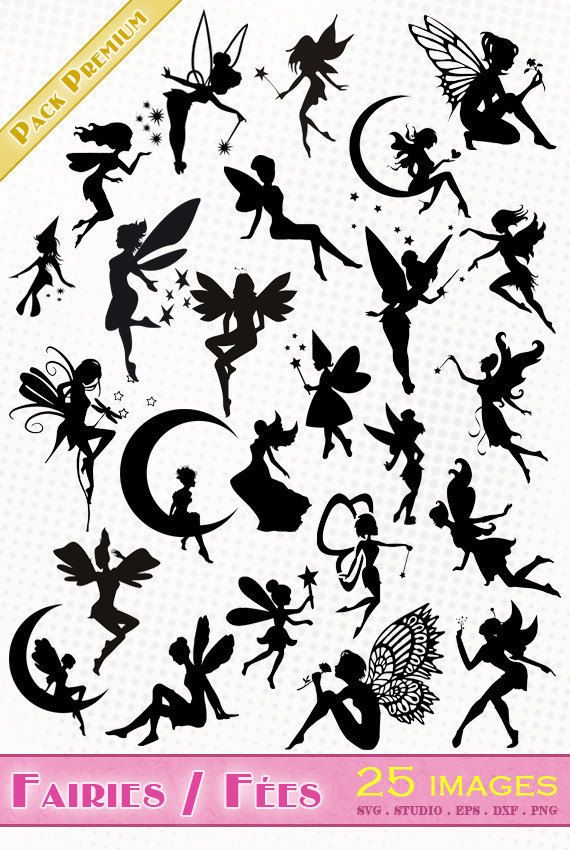 Fairy/Fairies 25 images png/svg/dxf/eps/studio