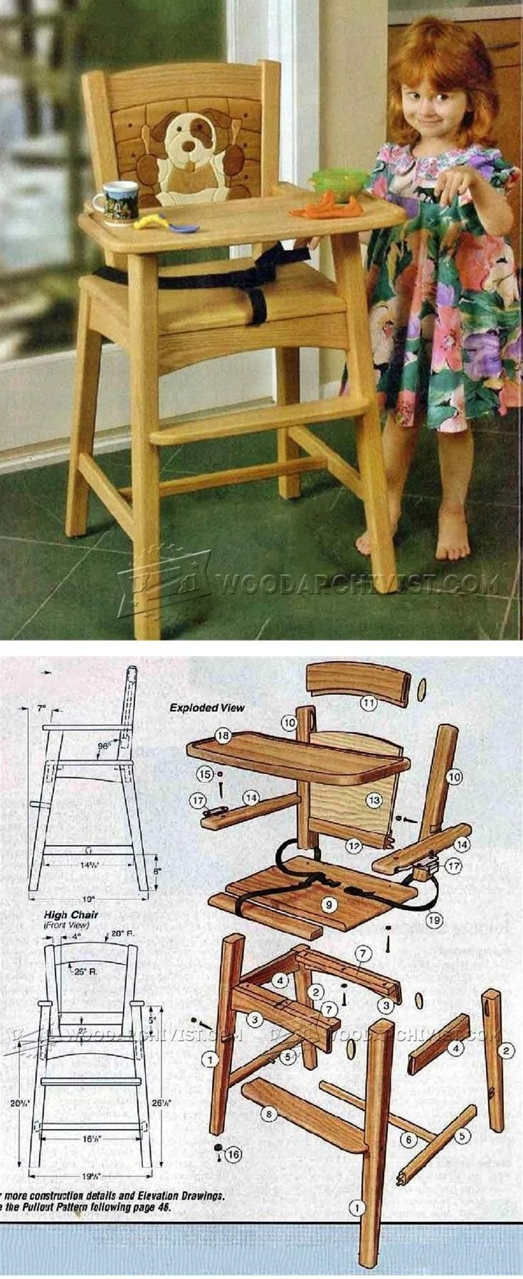 25 Best Ideas About Wooden High Chairs On Pinterest
