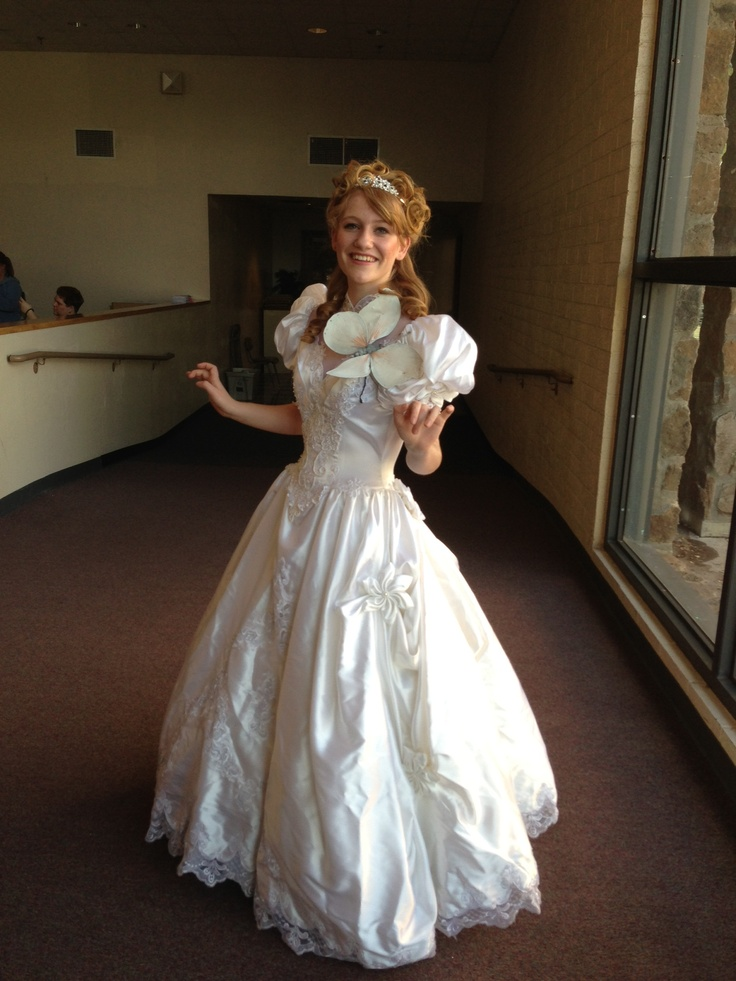DIY Giselle from enchanted costume Old wedding dress from