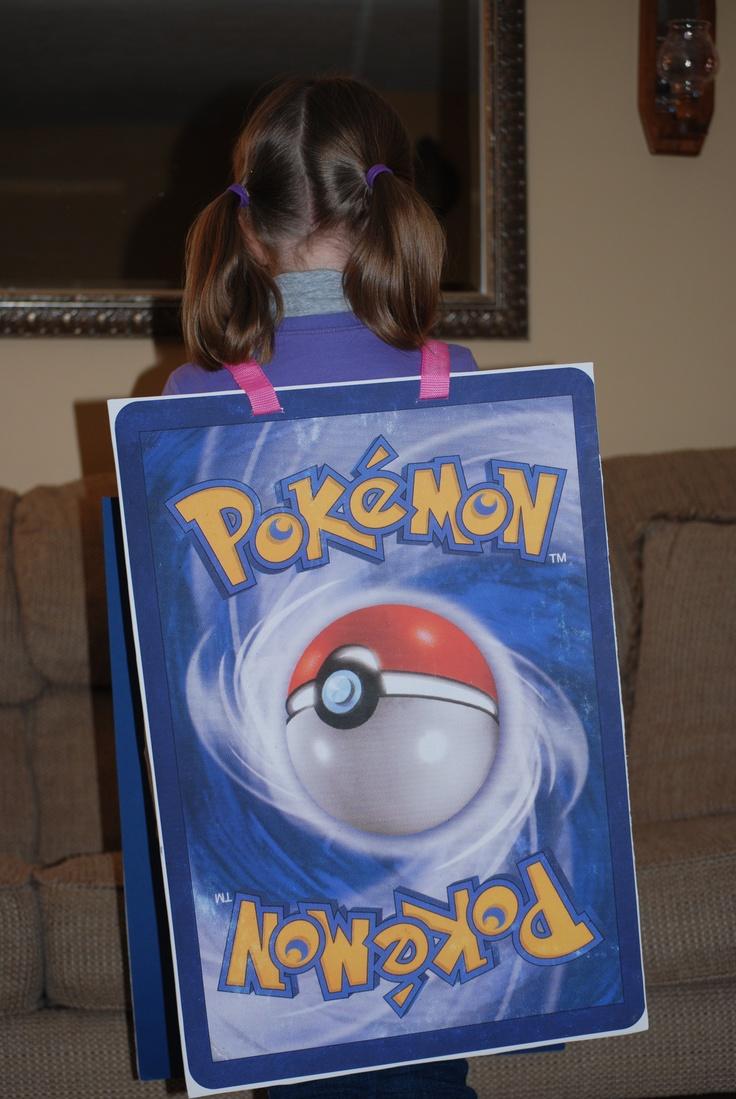 Halloween Costume Back Of Pokemon Card Halloween Fun