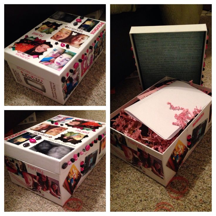 Simple memory box I made for my best friend for her