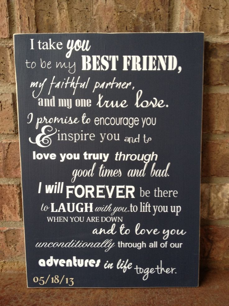 I Take You To Be My Best Friend Custom Wood Sign Wedding