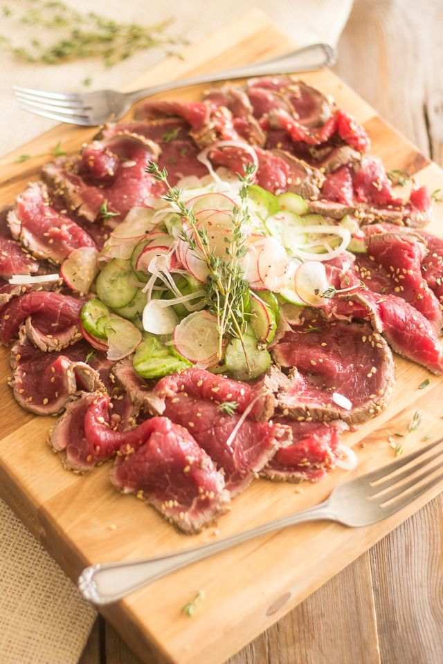Beef Tataki For Two Recipe Super Bowl The Ojays And
