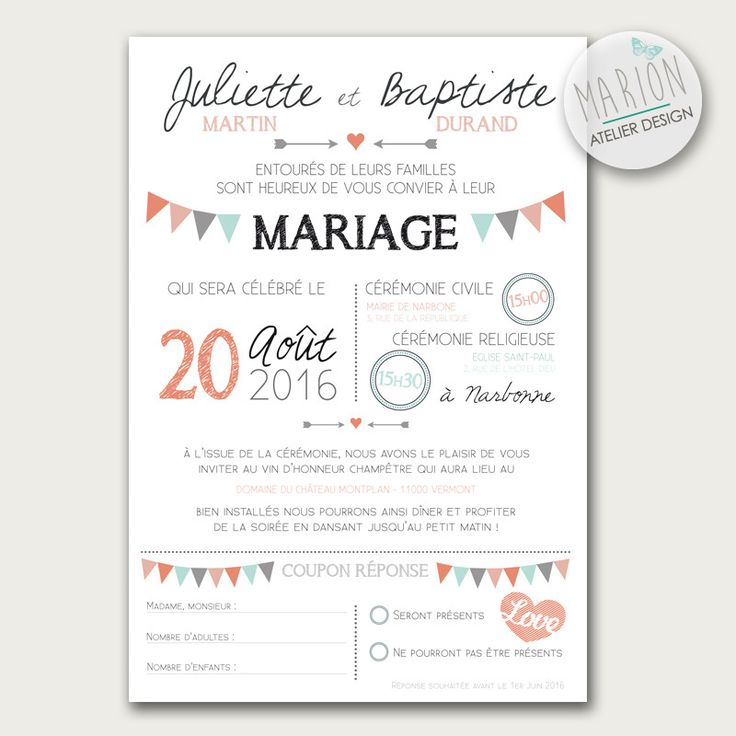 texte pour invitation mariage