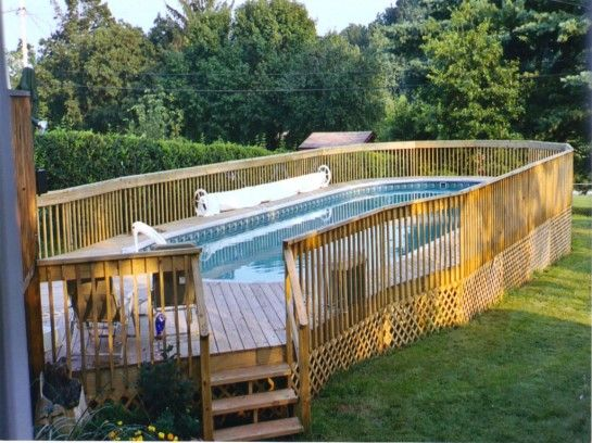 Fascinating Above Ground Pool Fence Ideas With Wooden