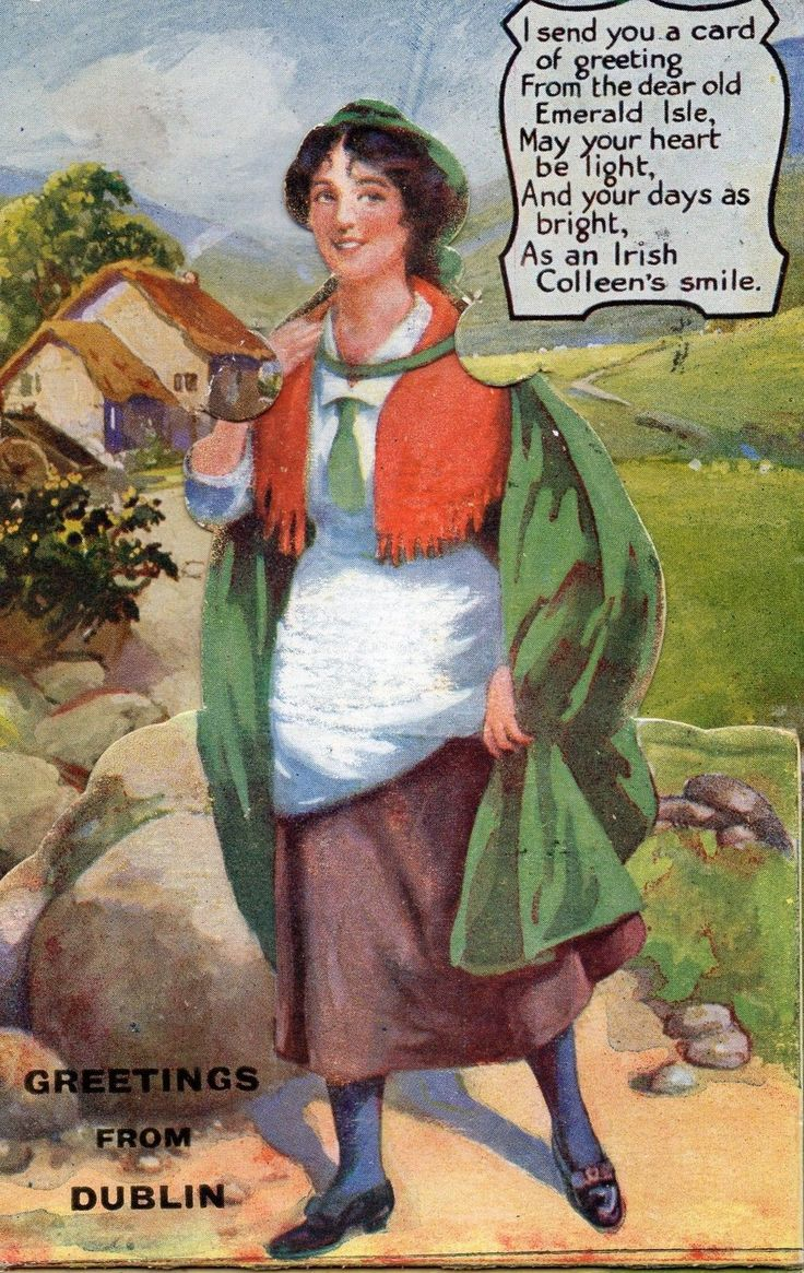 Printed Novelty Postcard Greetings From Dublin 1924 Irish