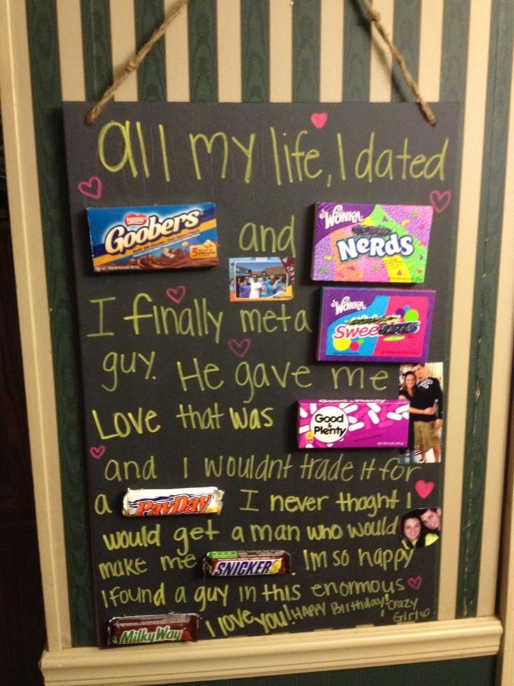 Sam's birthday poem to her boyfriend DIY Pinterest