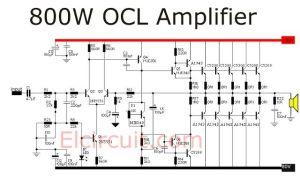 800 Watt power amplifier OCL | Audio Schematic | Pinterest