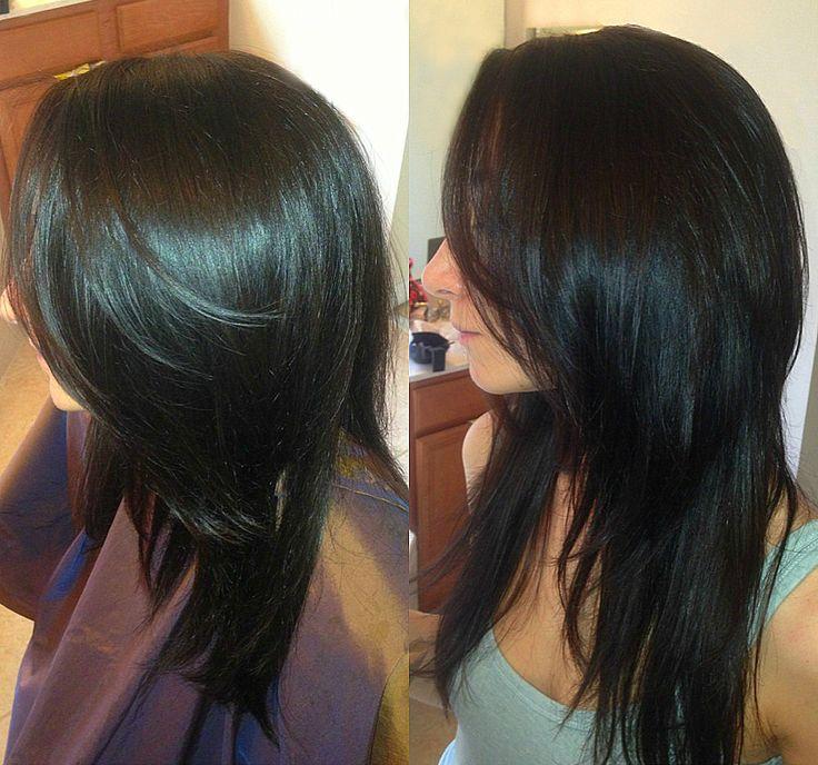 Dark Brown Long Layers Haircut Hurrr Pinterest Shape