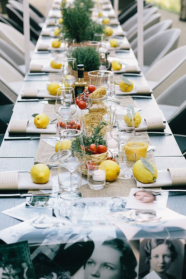 Italian Wedding Table Decor Loving The Spaghetti In