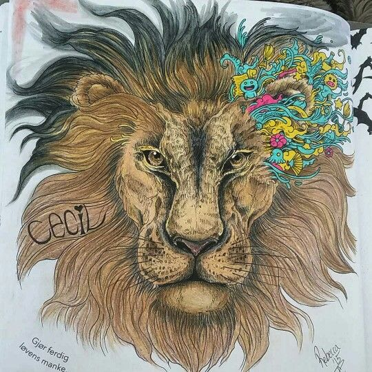 Animorphia My Tribute To Cecil Colouring For Adults My