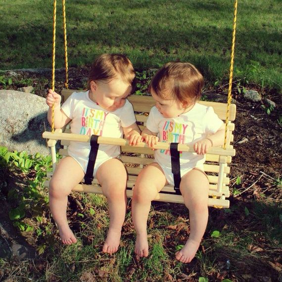 Rope Tree Swing For Two Toddlers Children Twin Gift