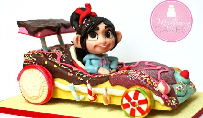 Vanellope S Wreck It Ralph Car Cake