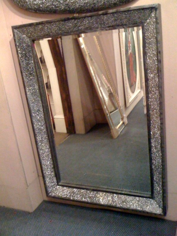 Crushed Glass Sparkle Mirror Work Ideas Pinterest
