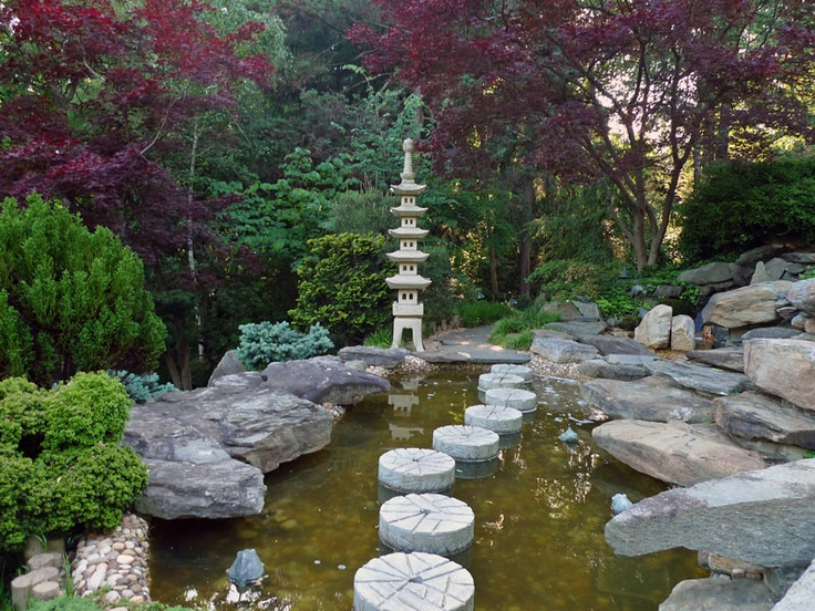 Japanese These gardens in America primarily reference