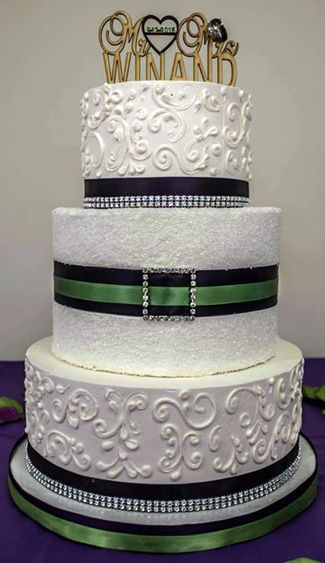 32 Best Images About Bling Wedding Cakes On Pinterest