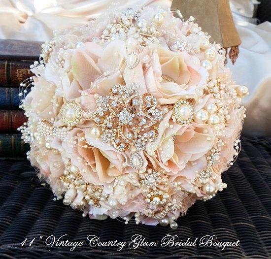 ROSE GOLD Brooch Bouquet-DE