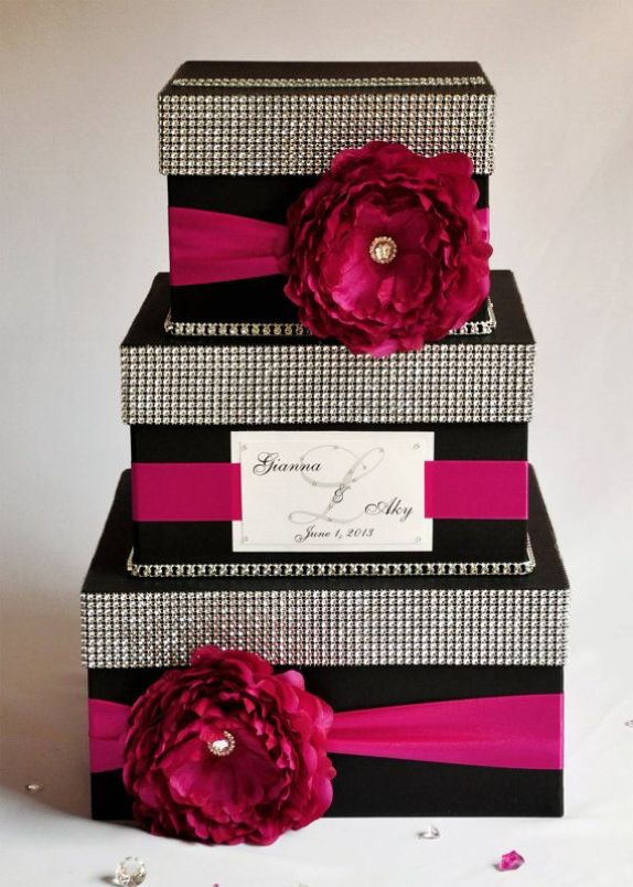 Card box / Wedding Box / Wedding money box  3 tier by DiamondDecor, $89.00: