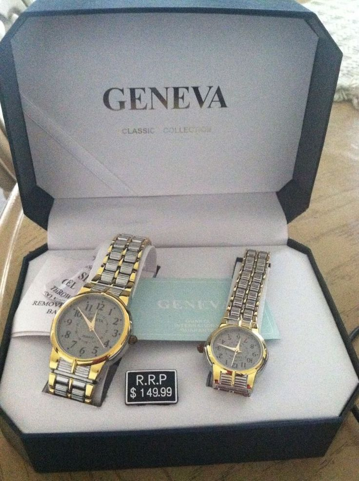 Geneva Classic Collection His and Hers Matching Watches