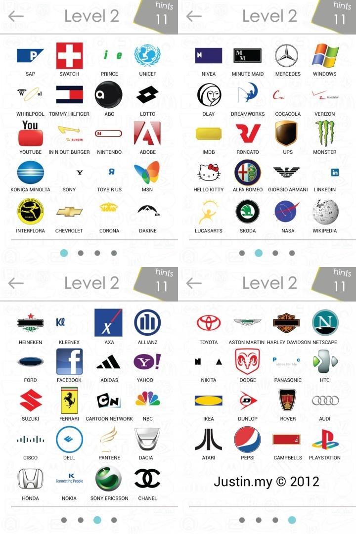 logosquizanswerslevel2 Stuff Pinterest Logos and